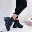 Женские зимние черные ботинки, из натуральной кожи 39 ПОСЛЕДНИЙ РАЗМЕР, фото 5