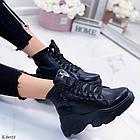 Женские зимние черные ботинки, из натуральной кожи 39 ПОСЛЕДНИЙ РАЗМЕР, фото 6