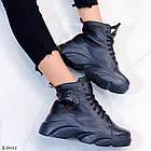 Женские зимние черные ботинки, из натуральной кожи 39 ПОСЛЕДНИЙ РАЗМЕР, фото 7