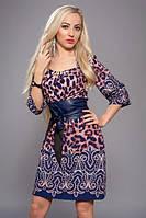 Платье с принтом, р 52