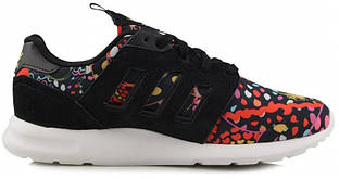 Женские Кроссовки Adidas Zx Flux 500 Print в черном цвете