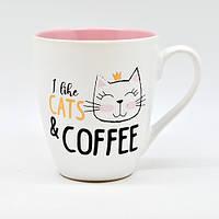 """Чашка """"I like cats&coffee"""" 550мл"""