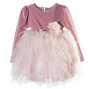 Нарядное платье из бархата для девочки