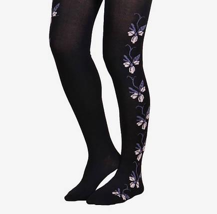 Женские колготки с цветочком сбоку (A10-174) | 6 шт., фото 2