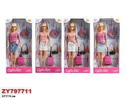Кукла DEFA 29см, чемодан, фотоаппарат, 8377-BF
