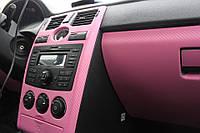 Карбон  3d розовый  мелкое зерно 1,52 м, фото 1