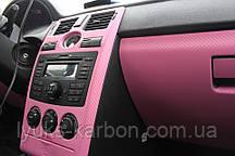 Карбон  3d розовый  мелкое зерно 1,52 м