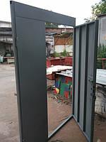 Тамбурные двери с верхней и боковой фрамугой