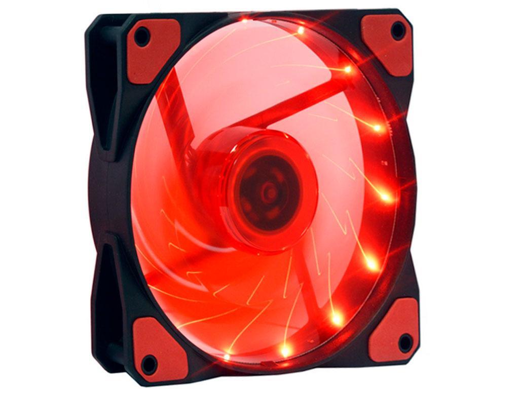 Вентилятор (кулер) для корпусу 12025S LED Red