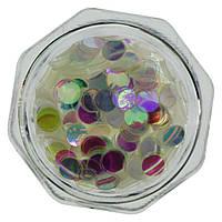 Декор для ногтей Nailapex конфетти (камифубуки) опал кружочки