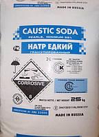 Сода каустическая гранулированная, 99% Россия, мешок 25 кг
