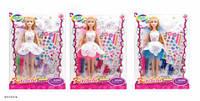 Кукла 30см, платье-раскраска, наклейки, маркеры, BLD169