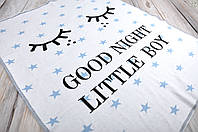 """Плед """"Good night"""", голубой"""