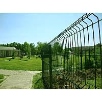 Заборные секции из сварной сетки с изгибом Заграда Стандарт с полимерным покрытием калитки двери ворота столбы