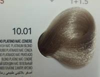 10.01 Платиновый Блондин пепельный, крем-краска с арганой и кератином, Team155