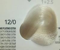 12.0  Эстра Супер Светлый Блондин Платиновый, крем-краска с арганой и кератином, Team155