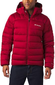 Мужская пуховая красная куртка Columbia Wrightson Peak II