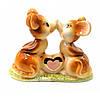 Мышки влюбленные фарфоровые (9х7х4 см)