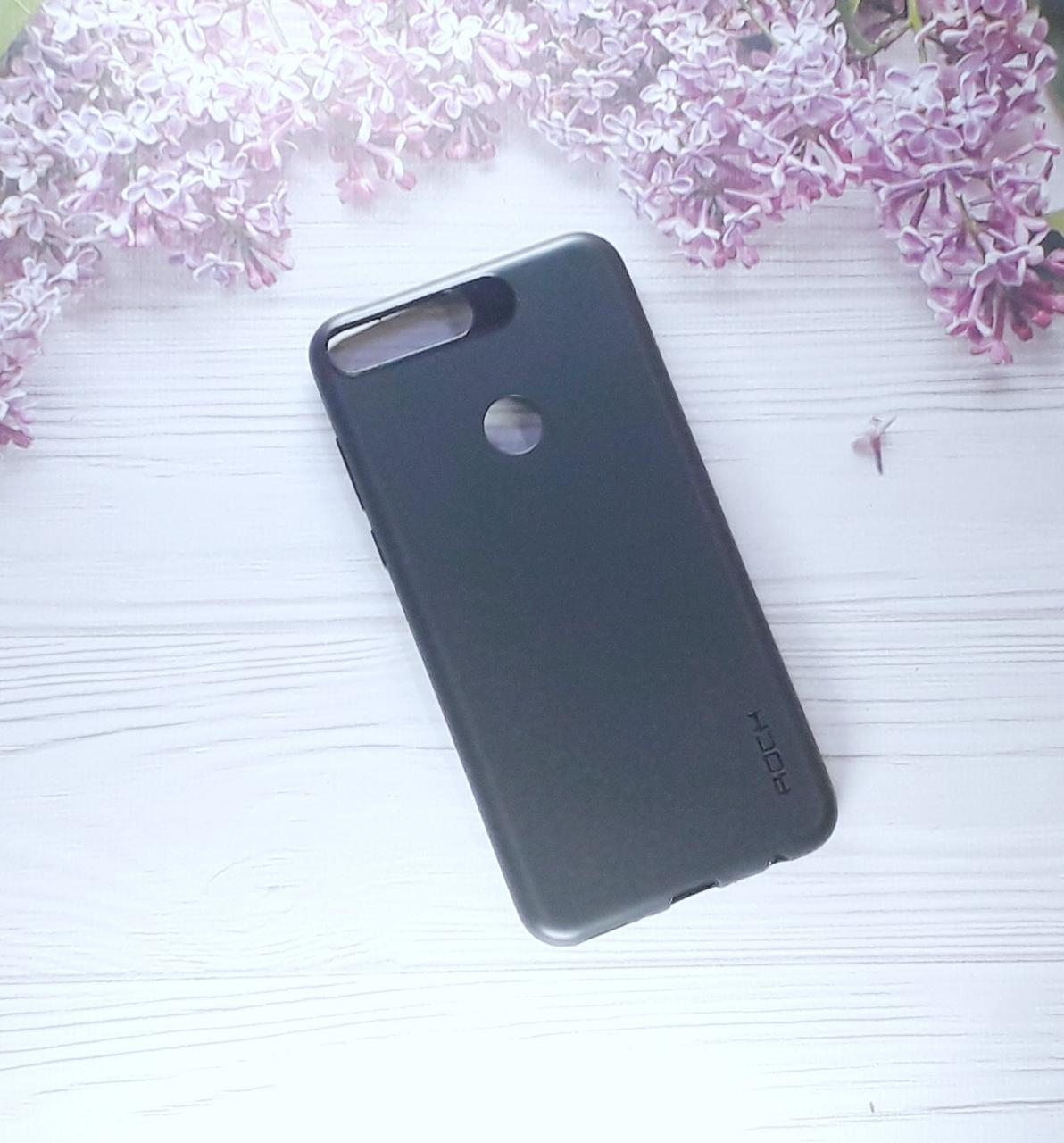 Чехол накладка Silicone Case на Huawei Y7 (2018), Honor 7C, Black