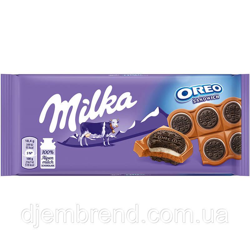 """Шоколад молочный """"Milka. Oreo Sandwich"""" (92 г)"""