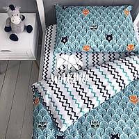 """Комплект дитячої постільної білизни Warmo™ """"М'ятний ліс"""" 1,5-спальний"""