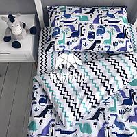"""Комплект дитячої постільної білизни Warmo™ """"Діно"""" 1,5-спальний"""