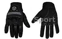 Мотоперчатки текстильные SCOYCO MС24-BK (протектор-усилен, р-р M-XL, черный)