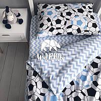 """Комплект дитячої постільної білизни Warmo™ """"Футбол"""" 1,5-спальний"""