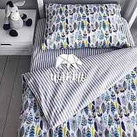 """Комплект дитячої постільної білизни Warmo™ """"Пір'я"""" 1,5-спальний"""