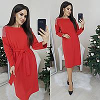 Платье женское красное, чёрное, тёмно синее, электрик, 42-44; 46-48; 50-52; 52-54; 58-60; 62-64