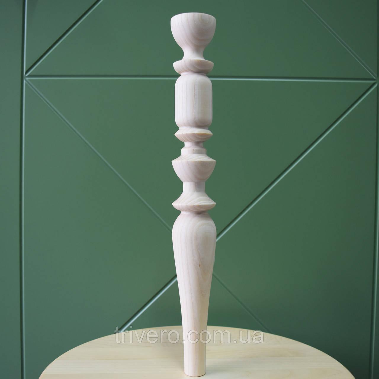 Тонкие точеные ножки и опоры для консоли из дерева
