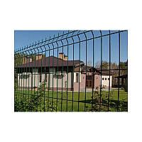 Заборные секции из сварной сетки с изгибом Заграда Стандарт с полимерным покрытием калитки двери ворота столб