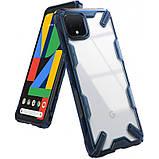 Чехол Ringke Fusion X для Google Pixel 4 SPACE BLUE, фото 6