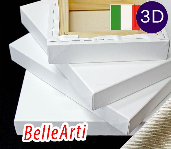 Холст на подрамнике Factura BelleArti 3D 20х30 см Итальянский хлопок 285 грамм кв.м. среднее зерно белый, фото 1