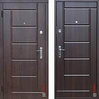 Дверь входная металлическая ZIMEN Stella VINORIT l Орех коньячный / Темный орех  l Base