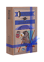 Шоколадный набор Shokopack Крафт-мопс для мужчины 20 х 5 г Молочный, фото 1