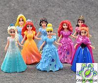 Набор кукол с платьями Принцессы Диснея 8 кукол и 8 платьев.