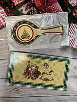 """Фарфоровая подставка под ложку """"Елка"""". Новогодние подарки"""
