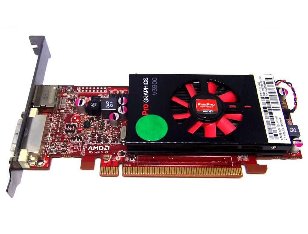 Б/у Видеокарта ATI FirePro V3900 1Gb PCI-Ex DDR3 128bit (DVI + DP)