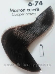 Тонирующая крем-краска для волос Ducastel Subtil Couleur Tone HD 6-74 - каштан медный, 60 мл