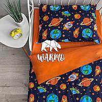 """Комплект дитячої постільної білизни Warmo™ """"Космос"""" 1,5-спальний"""