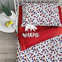"""Комплект дитячої постільної білизни Warmo™ """"Ромбики"""" 1,5-спальний"""