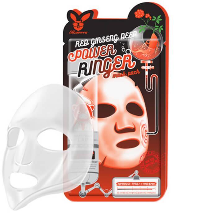 Тканевая маска Elizavecca Red Ginseng Deep Power Ringer Mask Pack 1 шт (8809520941938)