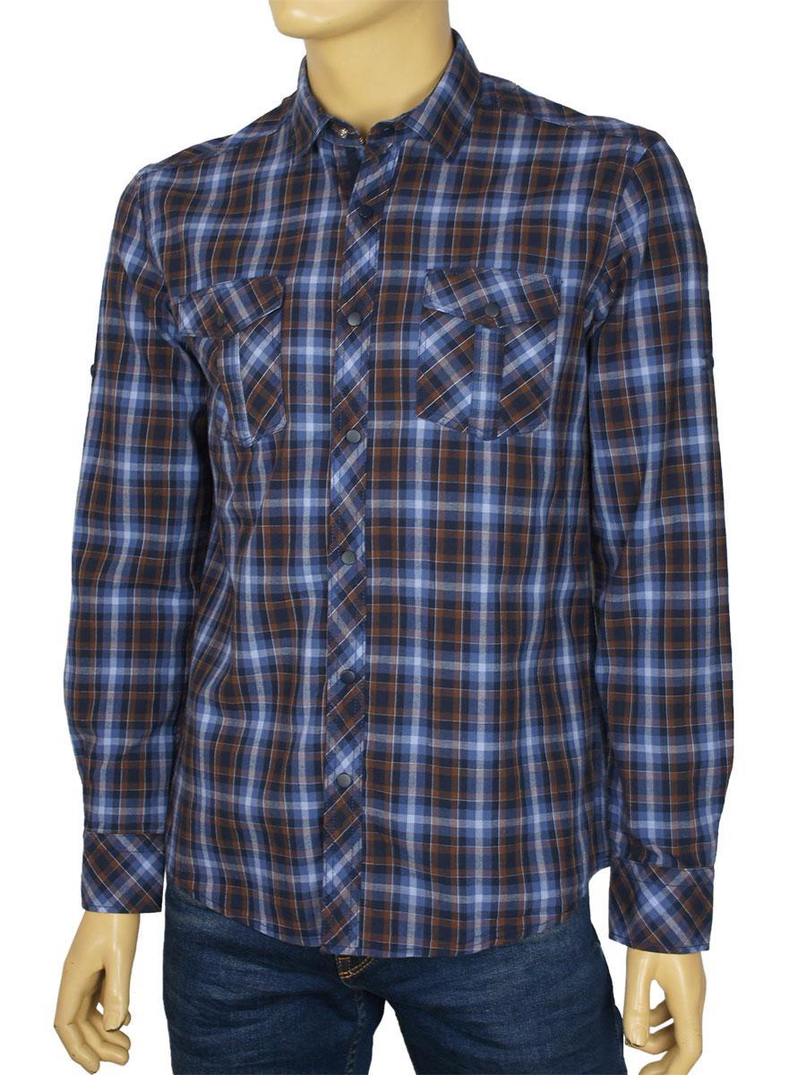 Хлопковая мужская рубашка Barcotti A:0075-34 в клетку