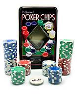 Покерные фишки (100 фишек)(19,5х12х5 см)(tc11100)