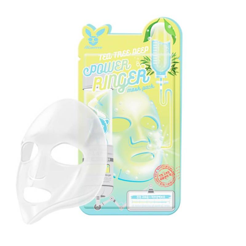 Успокаивающая тканевая маска Elizavecca Tea tree Deep Power Ringer Mask Pack 1 шт (8809520941907)