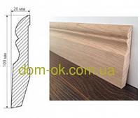 Деревянный плинтус из дуба размер 100х20 мм ТИП 9