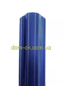 Металевий паркан напівкруглий і трапецевідний RAL 5005 (синій) глянц/грунт 0,45 мм Китай