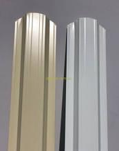 Металевий паркан напівкруглий і трапецевідний RAL 9003(білий) 1-но і 2-х сторонній 1-але сторонній