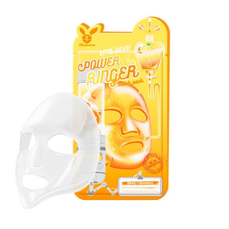 Витаминизированная тканевая маска Elizavecca Vita Deep Power Ringer Mask Pack 1 шт (8809520941860)